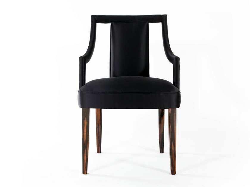 Upholstered chair with armrests CORSET | Chair by Munna