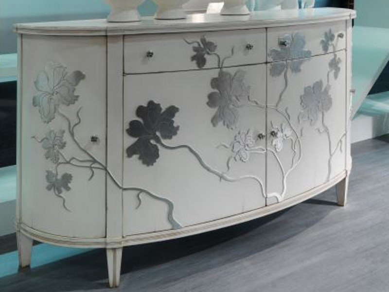Lacquered sideboard with doors IRIS | Sideboard by Bizzotto