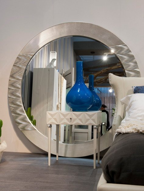 Wall-mounted framed round mirror 292 | Mirror by Bizzotto
