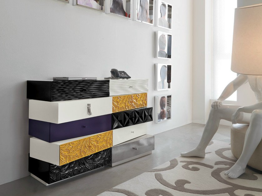 Sectional modular chest of drawers SMART | Chest of drawers by Bizzotto