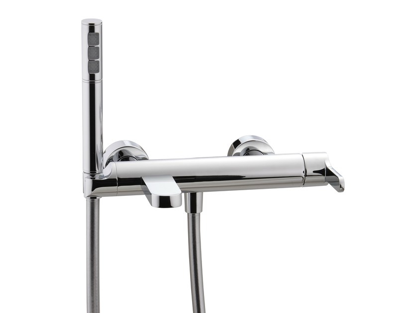 Wall-mounted bathtub mixer with hand shower KLAB | Bathtub mixer by Rubinetterie 3M