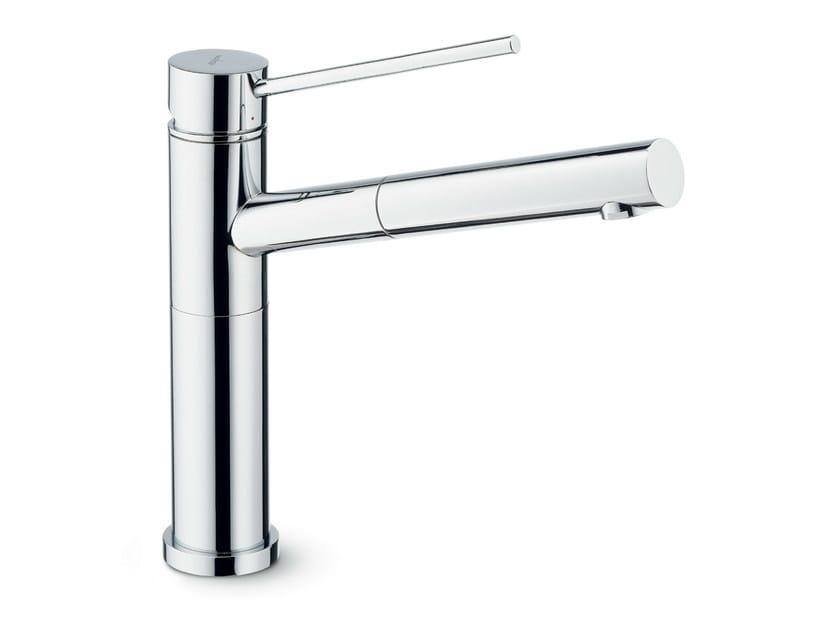 Countertop kitchen mixer tap with swivel spout with pull out spray X-TREND KITCHEN   Kitchen mixer tap with pull out spray by newform