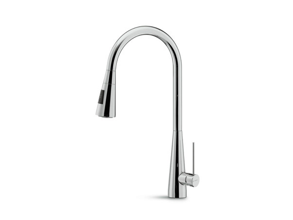 Countertop kitchen mixer tap with pull out spray Y-CON | Kitchen mixer tap with pull out spray by newform