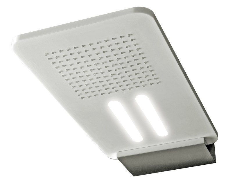 Wall-mounted extra flat overhead shower with built-in lights LIGHT | Overhead shower with built-in lights by Rubinetterie 3M
