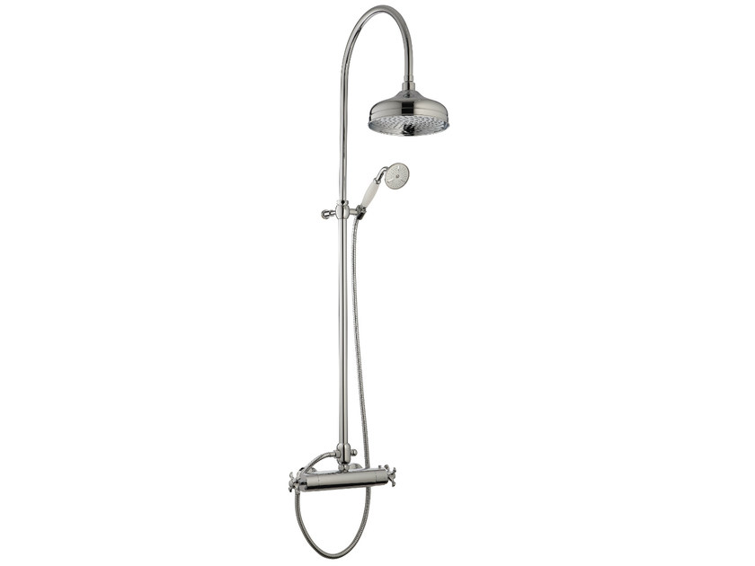 Thermostatic shower mixer with overhead shower NUOVA RETRÒ   Thermostatic shower mixer with overhead shower by Rubinetterie 3M