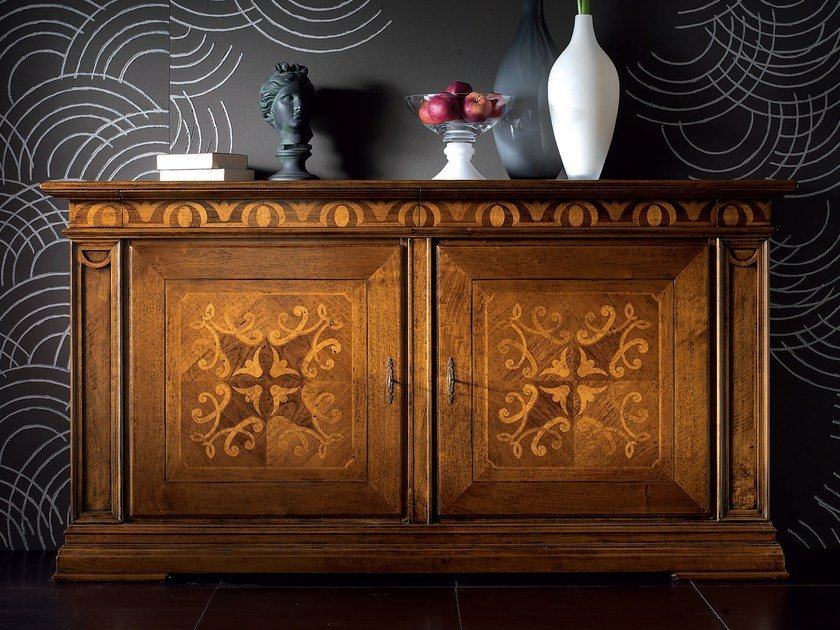 Wooden sideboard with doors with drawers CA' VENIER | Sideboard by Cantiero