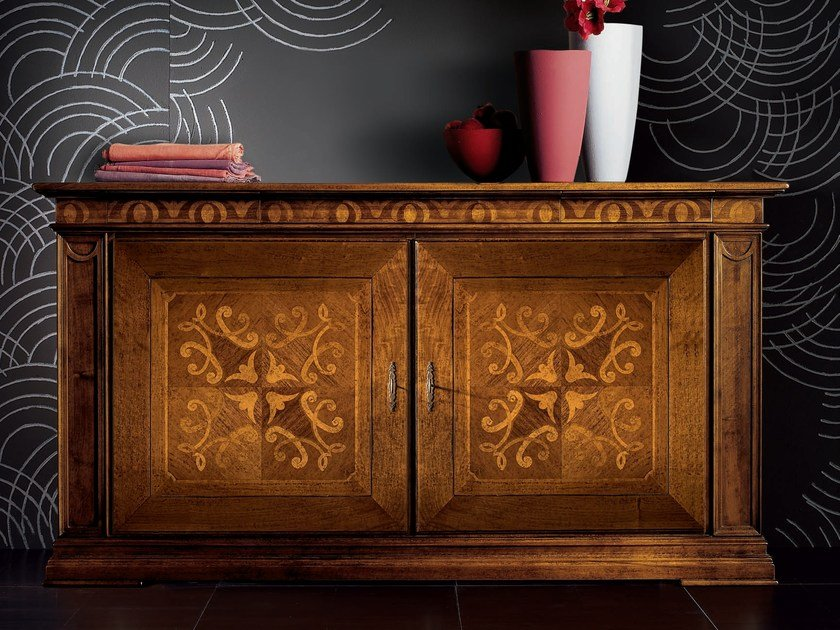 Wooden sideboard with doors with drawers CA' VENIER | Sideboard with doors by Cantiero