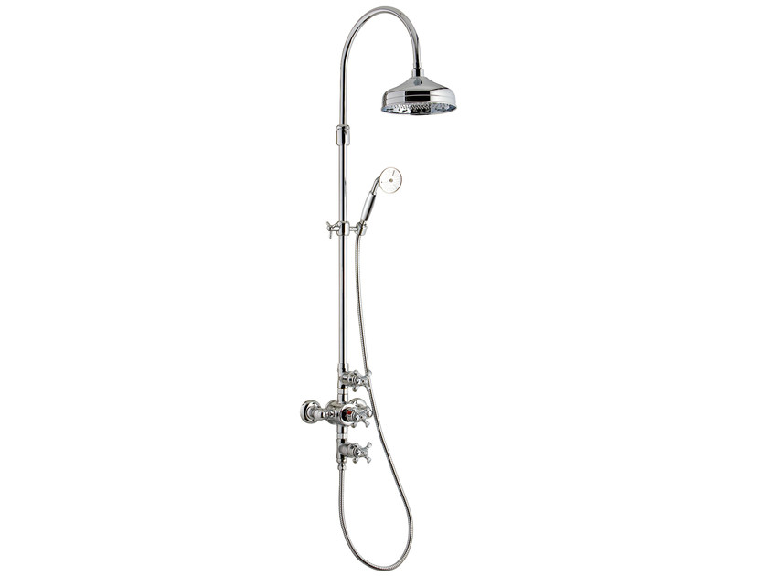 Thermostatic shower panel with overhead shower NUOVA RETRÒ | Thermostatic shower panel by Rubinetterie 3M
