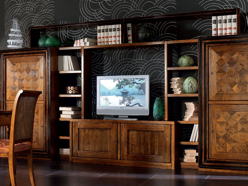 Sectional wooden storage wall CA' VENIER | Sectional storage wall by Cantiero