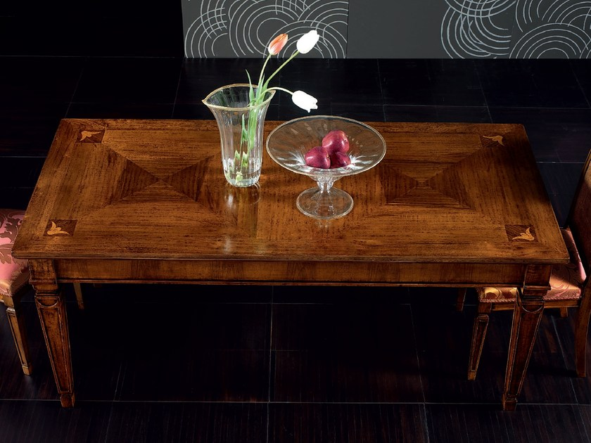Extending rectangular wooden table CA' VENIER | Rectangular table by Cantiero