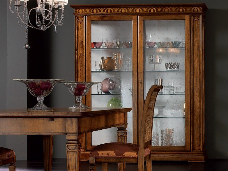 Classic style wooden display cabinet CA' VENIER   Display cabinet by Cantiero