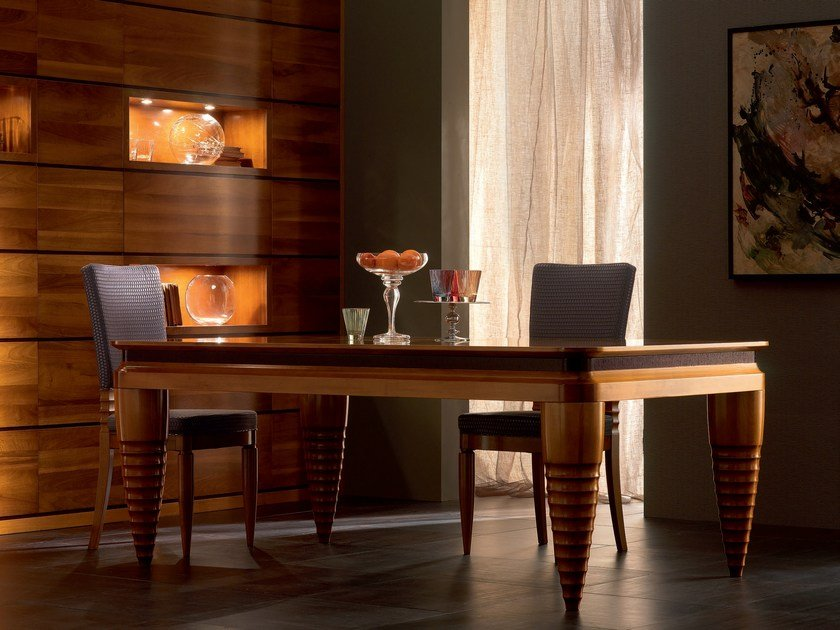 Extending rectangular solid wood table ELETTRA DAY | Extending table by Cantiero