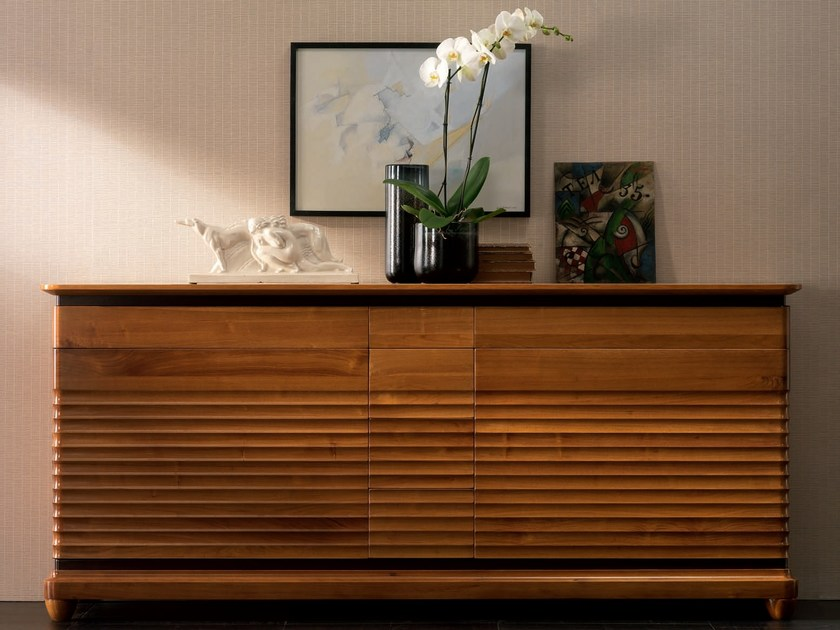 Solid wood sideboard with doors with drawers ELETTRA DAY   Sideboard by Cantiero