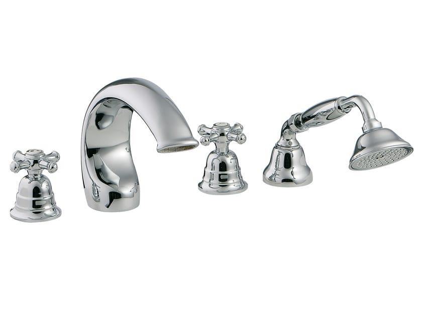 4 hole bathtub set with hand shower OLD ITALY | 4 hole bathtub set by Rubinetterie 3M