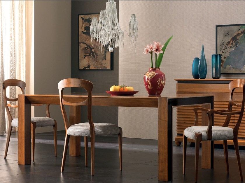 Extending rectangular wooden table ELETTRA DAY | Extending table by Cantiero