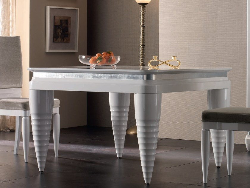 Lacquered rectangular wooden table ELETTRA DAY | Lacquered table by Cantiero