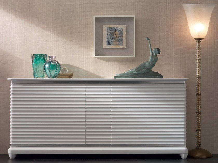 Lacquered solid wood sideboard with doors with drawers ELETTRA DAY | Lacquered sideboard by Cantiero