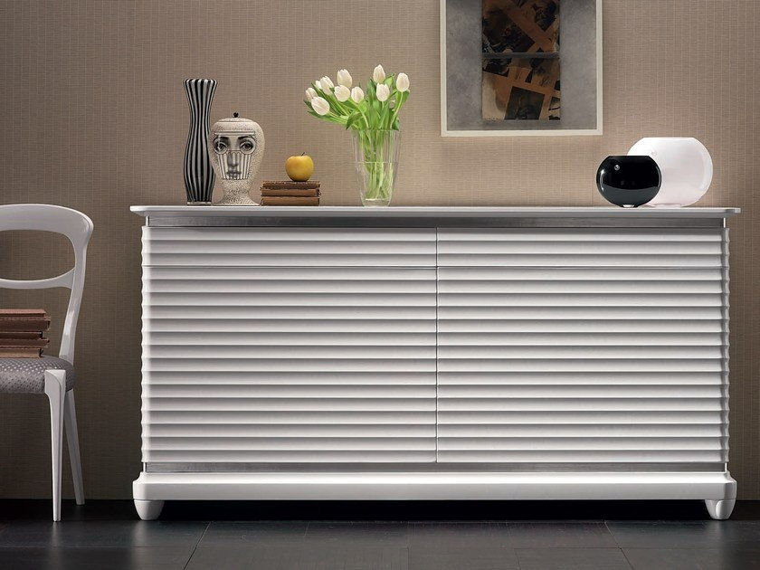 Lacquered solid wood sideboard with doors ELETTRA DAY | Solid wood sideboard by Cantiero