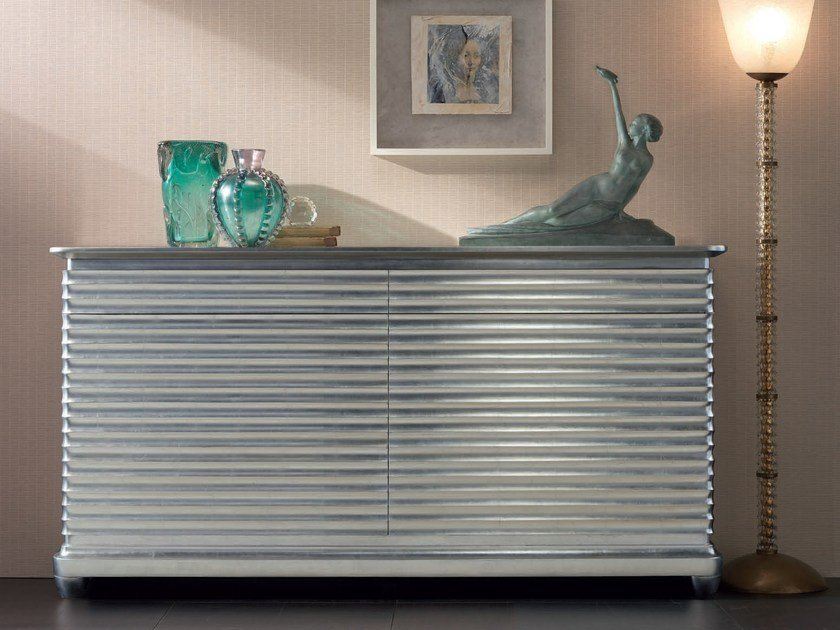 Lacquered solid wood sideboard with doors with drawers ELETTRA DAY | Sideboard with drawers by Cantiero