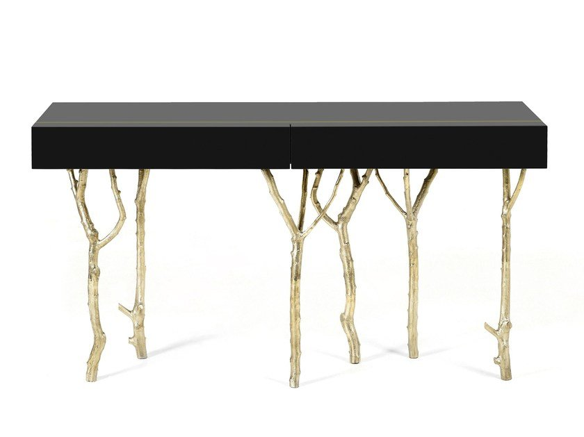 Rectangular console table with drawers FIG TREE by Ginger & Jagger
