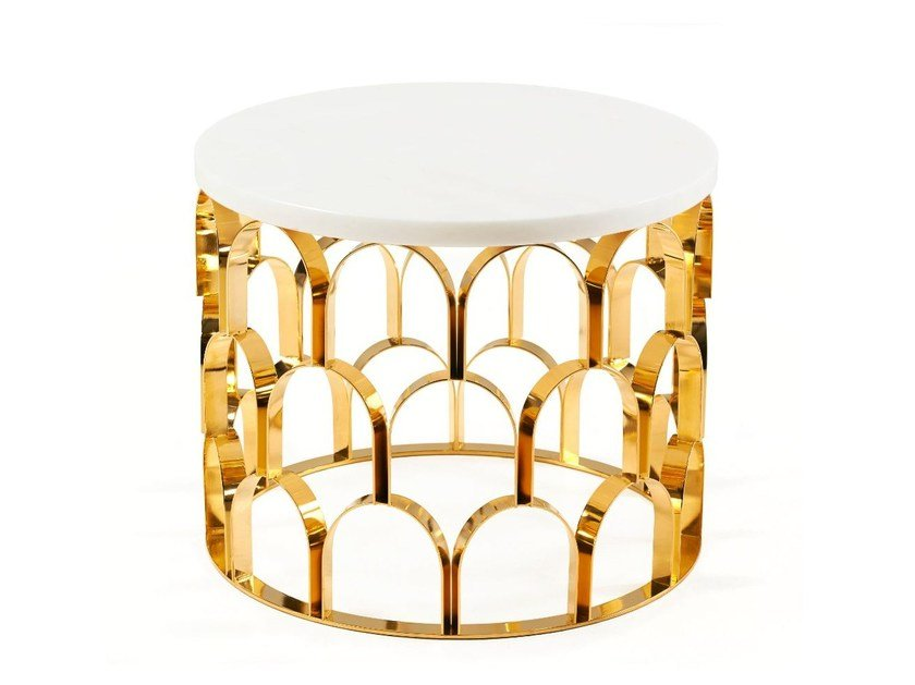 Round coffee table for living room ANANAZ | Coffee table by Ginger & Jagger