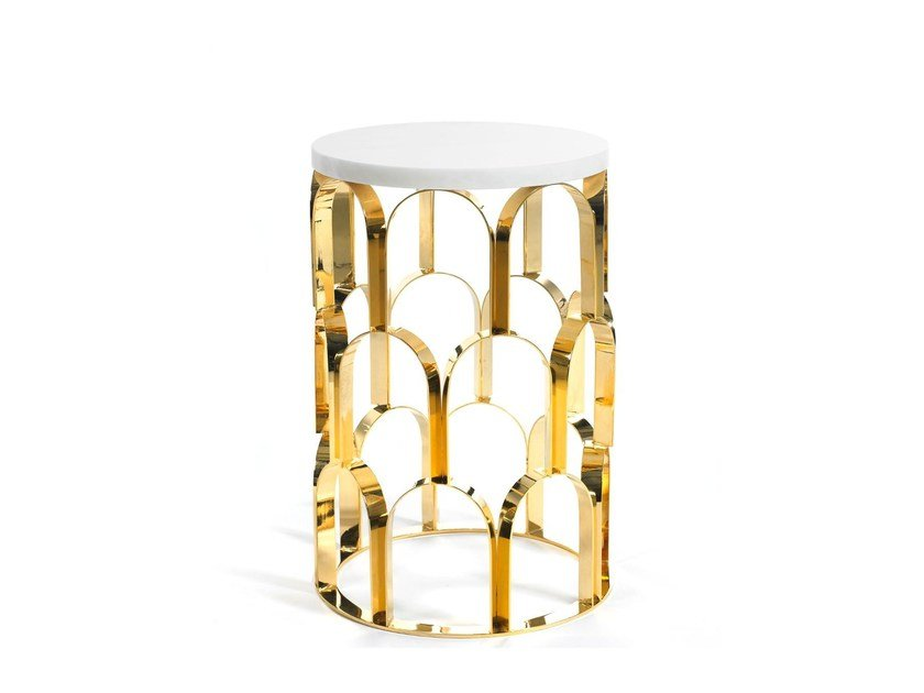 Round high side table for living room ANANAZ | High side table by Ginger & Jagger