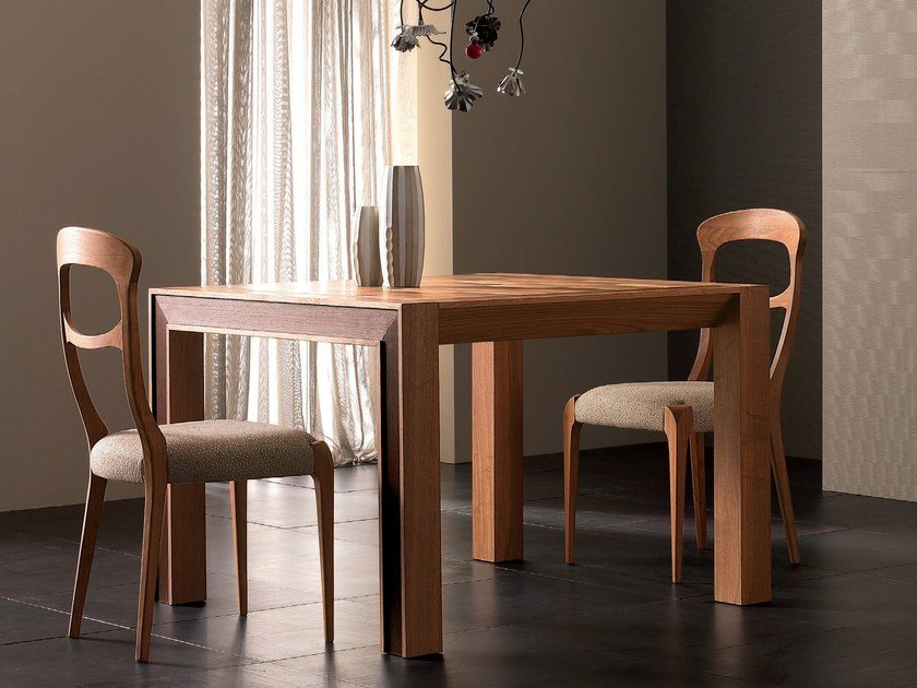 Extending rectangular solid wood table ELETTRA DAY | Solid wood table by Cantiero
