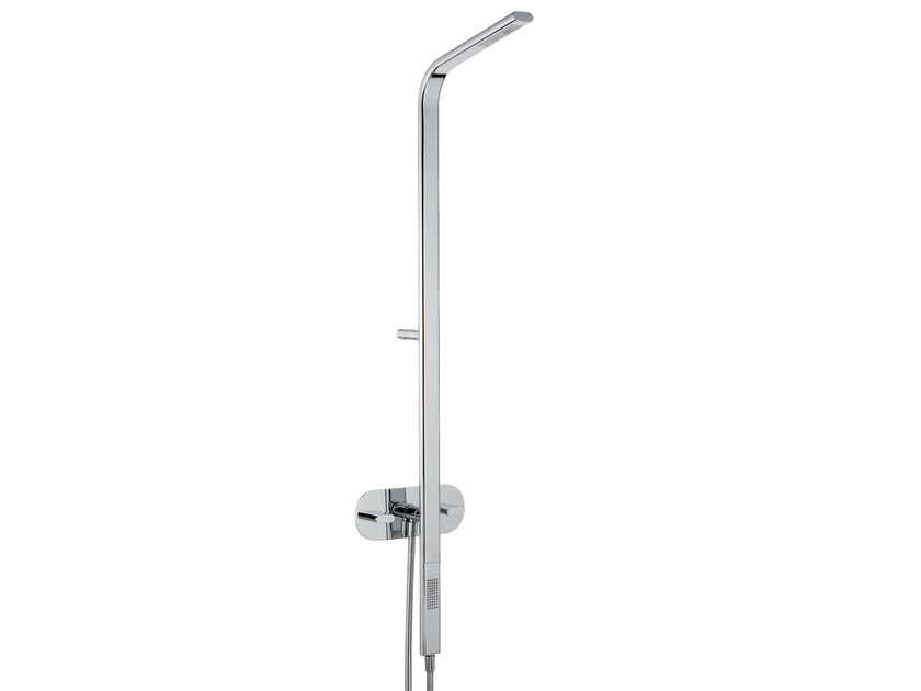 Wall-mounted shower panel with overhead shower PAO_JOY | Shower panel with overhead shower by Rubinetterie 3M
