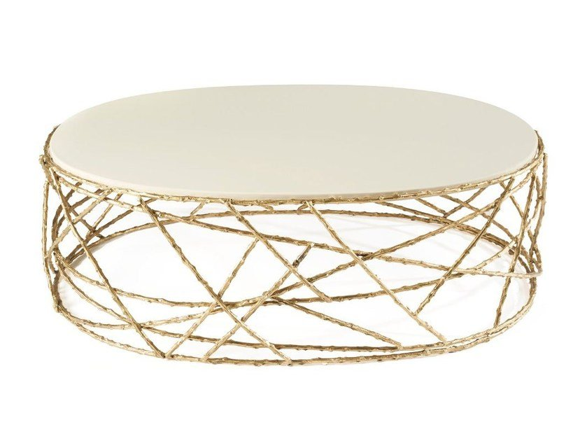 Oval coffee table for living room ROSEBUSH   Oval coffee table by Ginger & Jagger