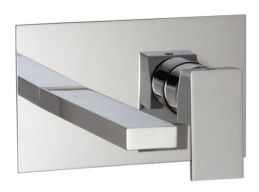 Wall-mounted washbasin mixer with plate Q | Washbasin mixer with plate by Rubinetterie 3M