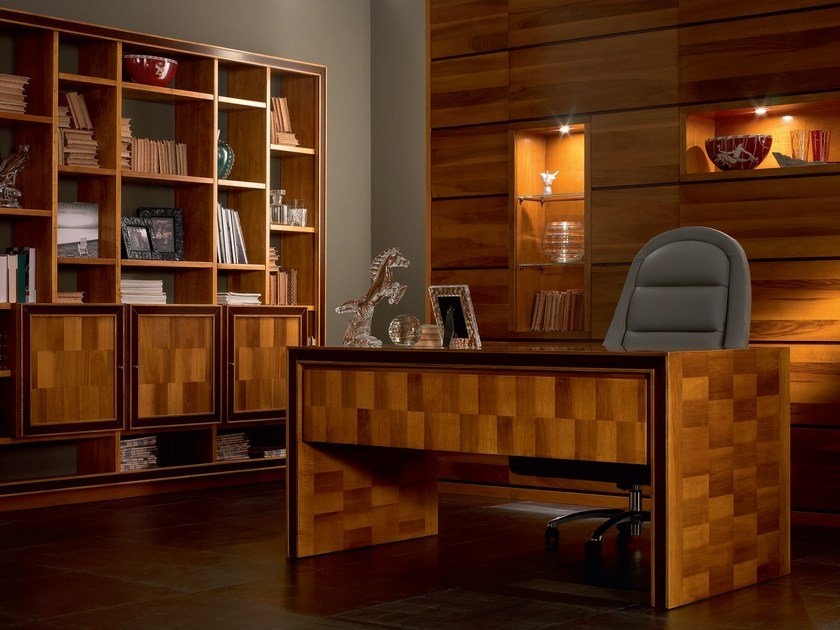 Rectangular solid wood office desk ELETTRA DAY   Office desk by Cantiero