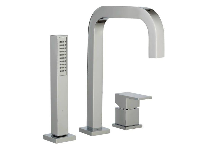 3 hole bathtub set with hand shower Q | 3 hole bathtub set by Rubinetterie 3M