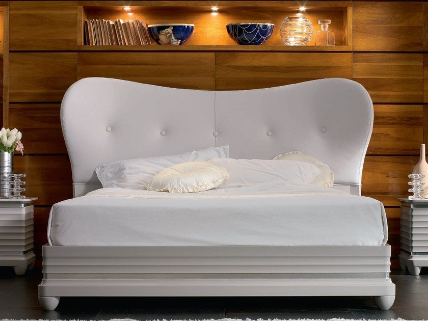 Leather double bed ELETTRA NIGHT | Leather bed by Cantiero