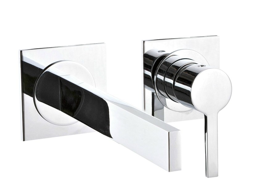 2 hole wall-mounted washbasin mixer TIME_OUT | Wall-mounted washbasin mixer by Rubinetterie 3M