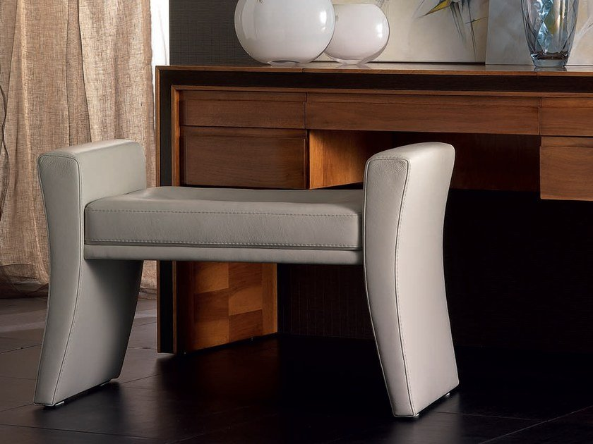 Upholstered leather bench ELETTRA NIGHT | Bench by Cantiero