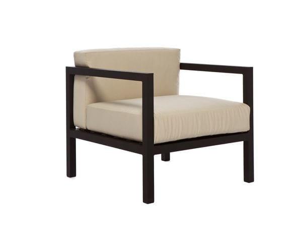 Aluminium garden armchair with armrests LUI | Garden armchair by Il Giardino di Legno