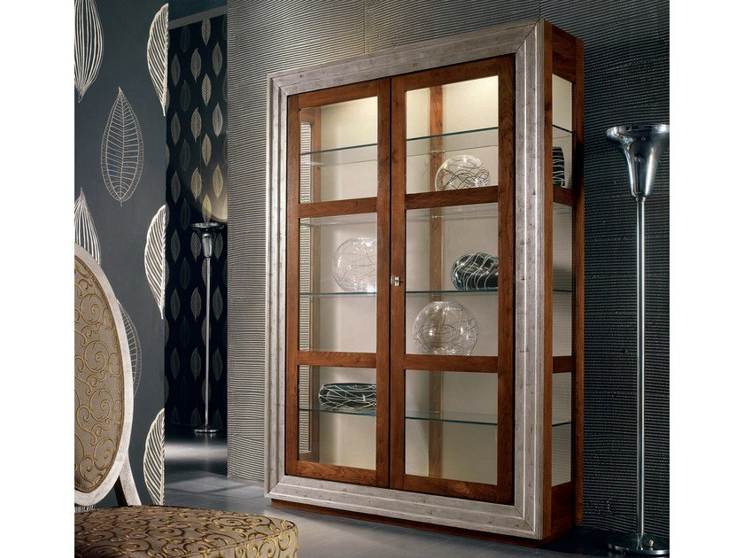 Silver leaf display cabinet ÉTOILE DAY | Display cabinet by Cantiero