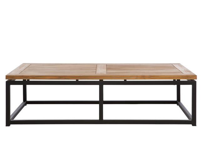 Low Rectangular garden side table LUI | Rectangular garden side table by Il Giardino di Legno
