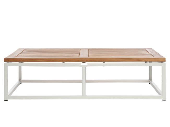 Low Rectangular garden side table LEI | Rectangular garden side table by Il Giardino di Legno