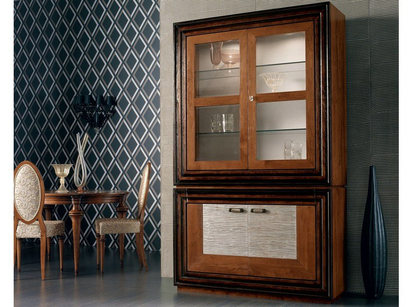 Classic style silver leaf highboard ÉTOILE DAY | Highboard by Cantiero
