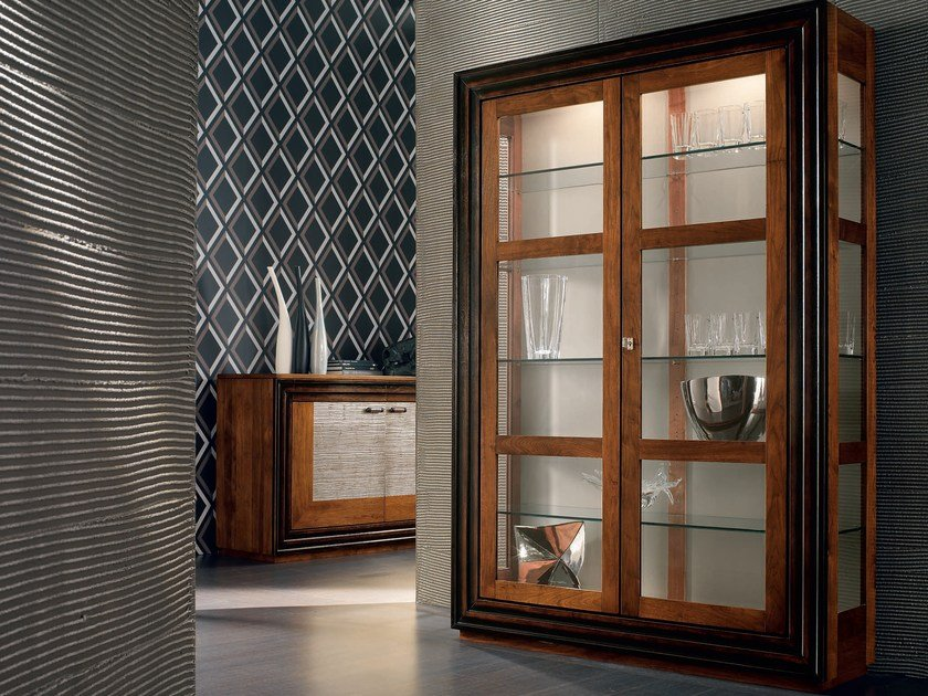Solid wood display cabinet ÉTOILE DAY   Wooden display cabinet by Cantiero