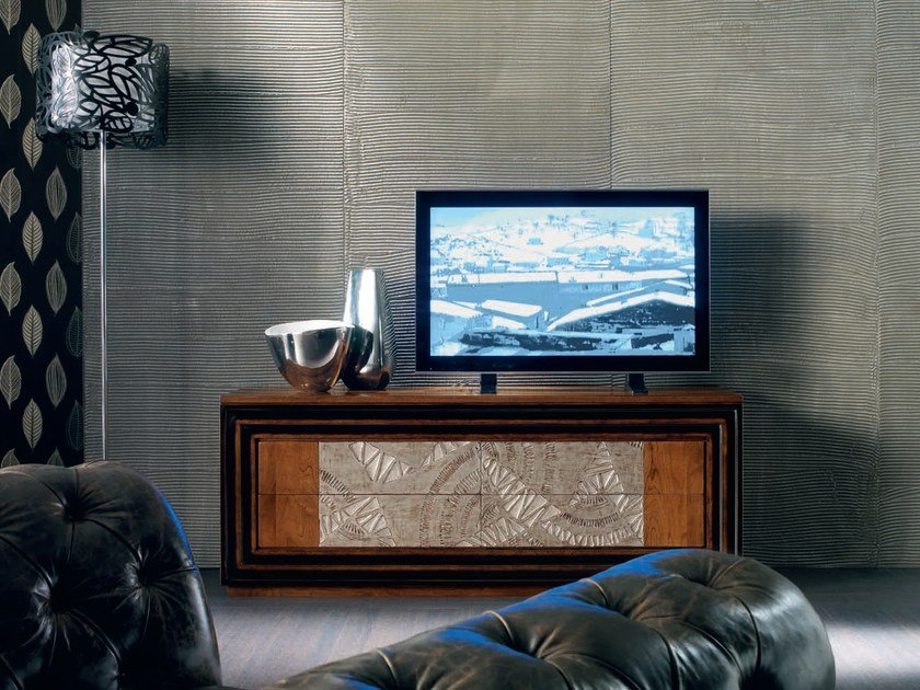 Silver leaf sideboard with drawers ÉTOILE DAY   Sideboard by Cantiero