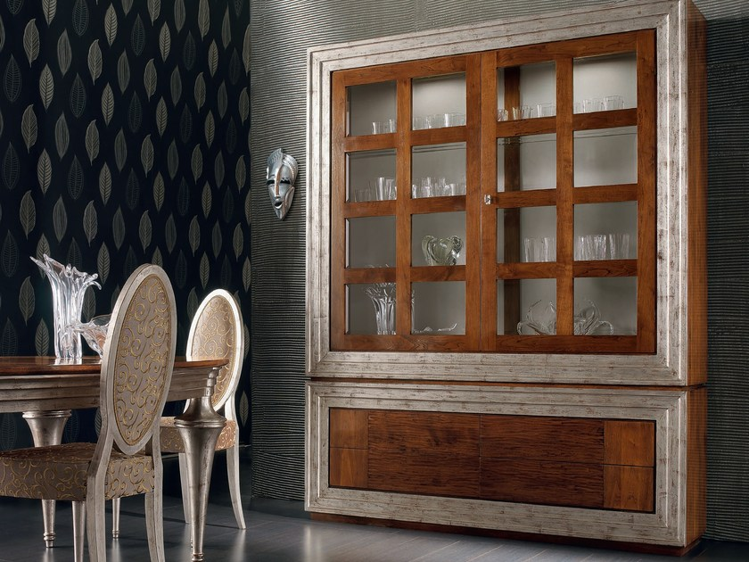 Silver leaf highboard with doors ÉTOILE DAY | Classic style highboard by Cantiero