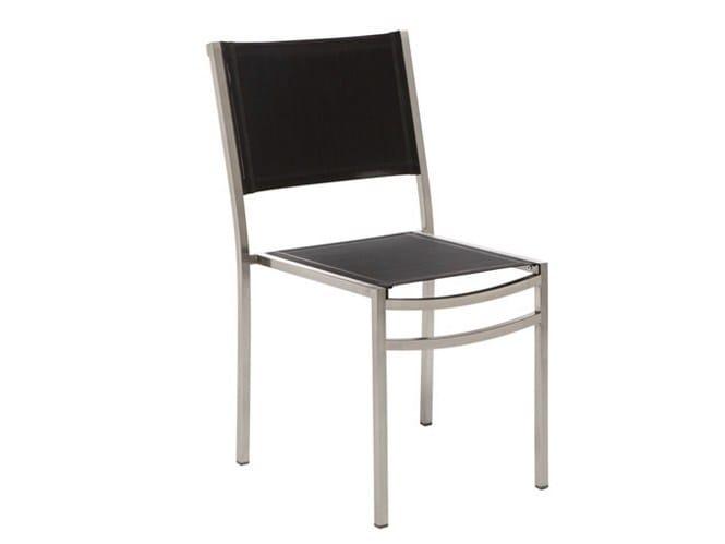 Stackable garden chair STRATOS by Il Giardino di Legno