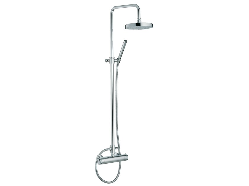 Thermostatic shower tap with overhead shower X-CHANGE | Thermostatic shower mixer with overhead shower by Rubinetterie 3M