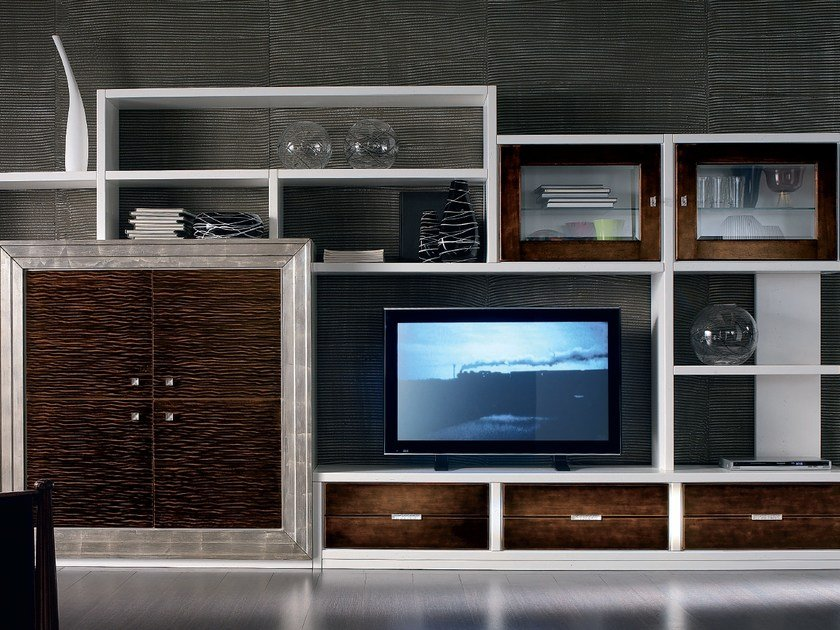 Sectional silver leaf storage wall ÉTOILE DAY | Storage wall by Cantiero