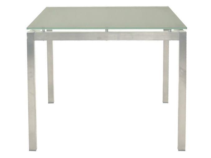 Square garden table CRYSTAL | Square garden table by Il Giardino di Legno