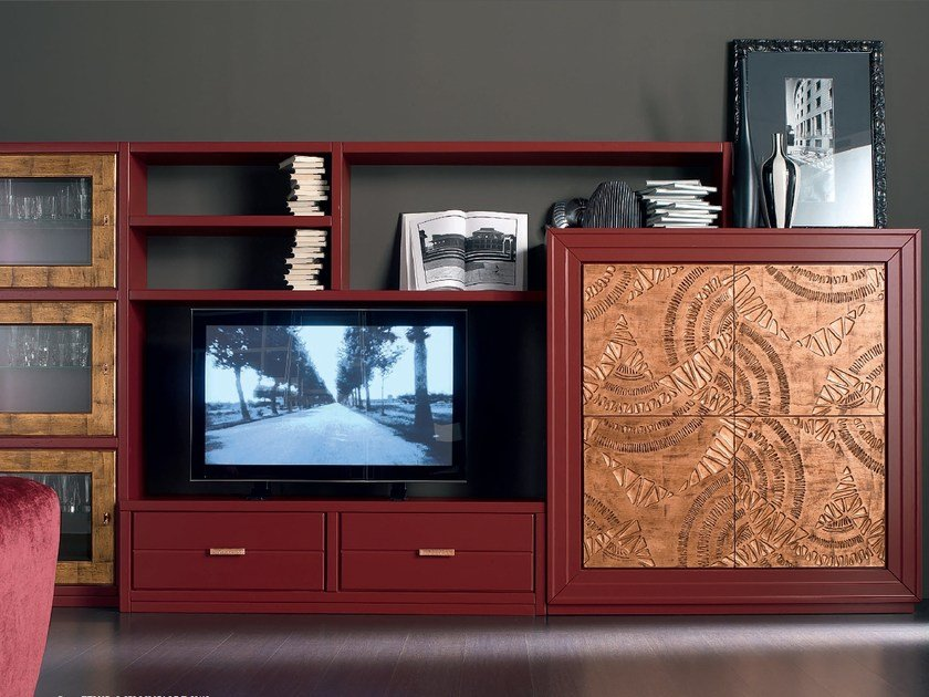 Sectional wooden storage wall ÉTOILE DAY   Storage wall by Cantiero