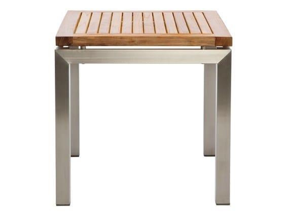 Square garden side table LUNAR | Garden side table by Il Giardino di Legno