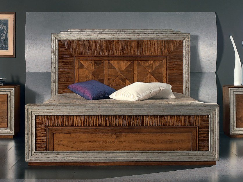 Solid wood double bed ÉTOILE NIGHT | Double bed by Cantiero